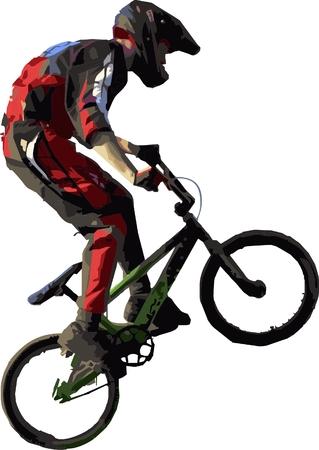 after school: Bike cross rider Illustration