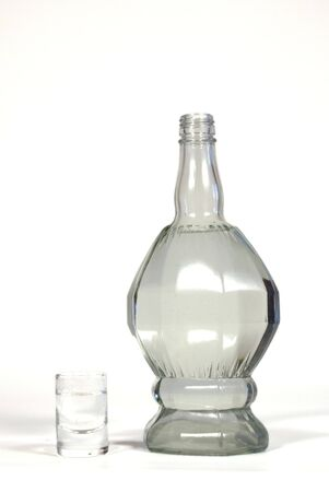 snifter: Bottle of vodka and snifter