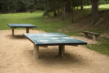 Table tennis - outdoor tables in park