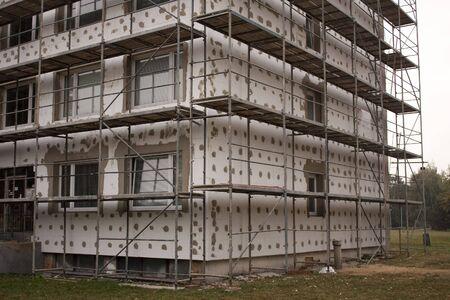 Thermo insulation on a building Reklamní fotografie