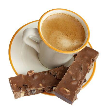 Espresso coffee and chocolate bars
