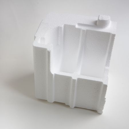 padding: Polystyrene padding for product packaging