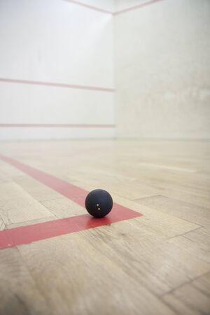 Empty squash court ready to play Stock Photo