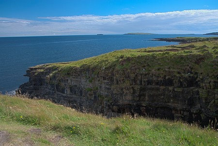 Rocks and cliffs at Orkney islands, Scotland - HDR image photo