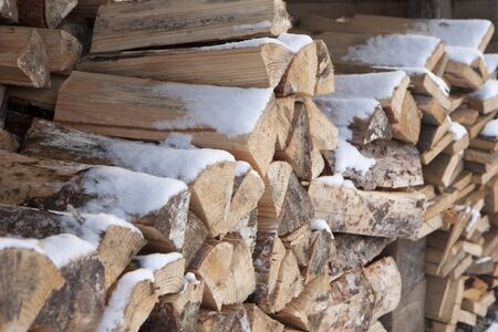 fireplaces: Heap of fuel wood for fireplaces
