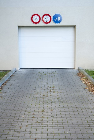Garage gate to an underground car park Stock Photo - 10901075
