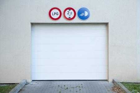 Garage gate to an underground car park  photo