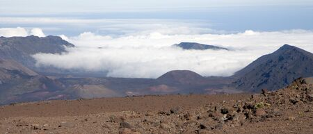 Crater of Haleakala volcano at Maui, Hawaii Stock Photo