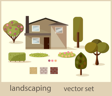 landscaping: vector landscaping web icons set
