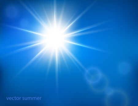 vector hot sun with lens flare Vector