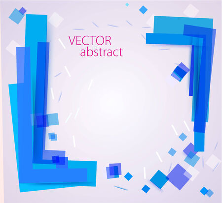 disordered: vector abstract chaotic background