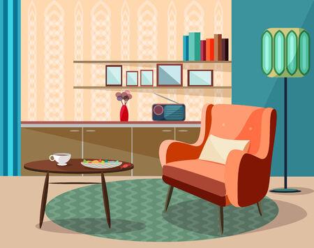 vector vintage room ,retro design Vector