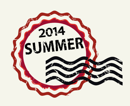 Vector stamp with text Summer 2014 ,isolated colored  icon Vector