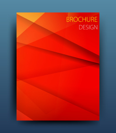 report cover design: vector business flyer template or corporate banner design