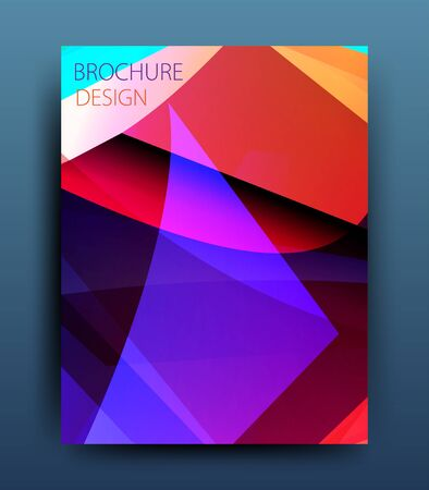 broadside: vector business flyer template or corporate banner design