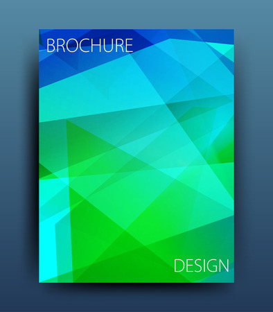 backdrop design: Vector business brochure flyer template or corporate banner design
