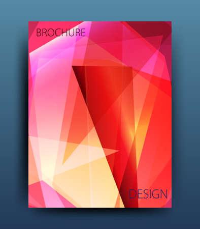 broadside: Vector business brochure flyer template or corporate banner design