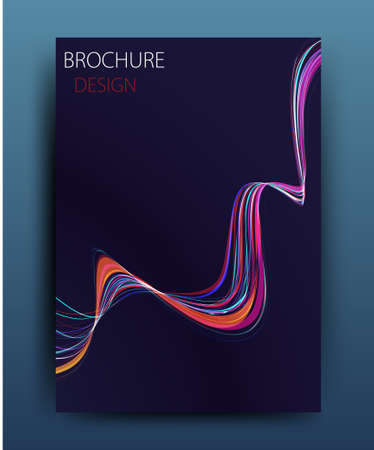 report: Vector business brochure flyer template or corporate banner design