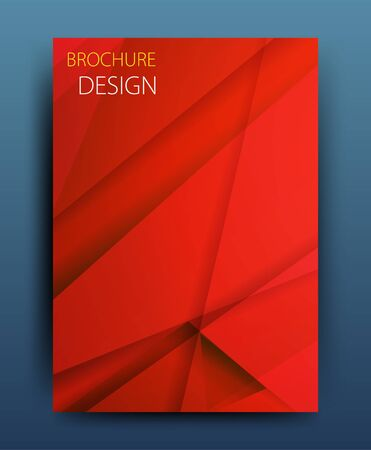 catalog background: Vector business brochure flyer template or corporate banner design