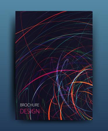 flyer design: Vector business brochure flyer template or corporate banner design