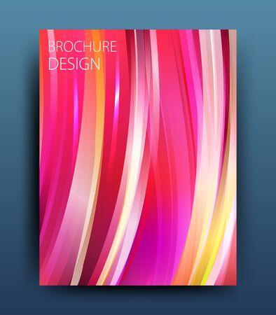 newsletter: Vector business brochure flyer template or corporate banner design