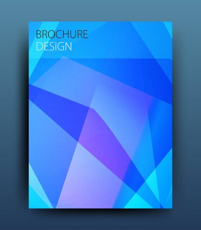 report cover design: Vector business brochure flyer template or corporate banner design