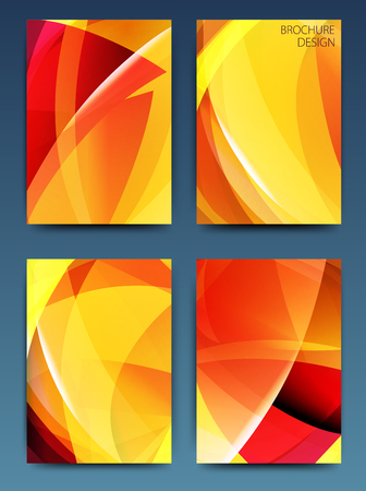 Vector set of 4 business brochure flyer templates or corporate banners design in A4 size. Modern abstract web, poster ,brochure design templates.
