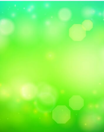 Vector abstract green background with blur bokeh light effect.