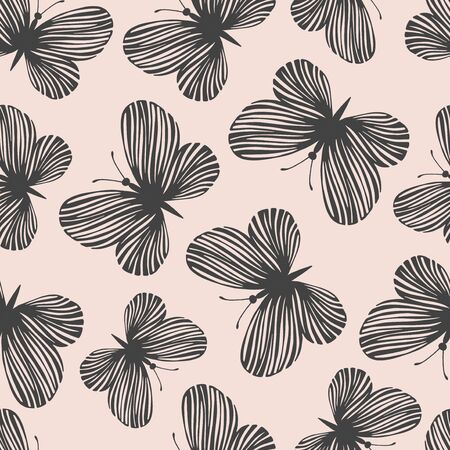exotic butterflies: Seamless pattern with exotic butterflies