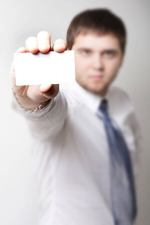 smartness: man with card