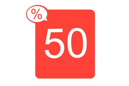 Sale badge or sticker flat icon for apps, websites, shops, price tags. 写真素材