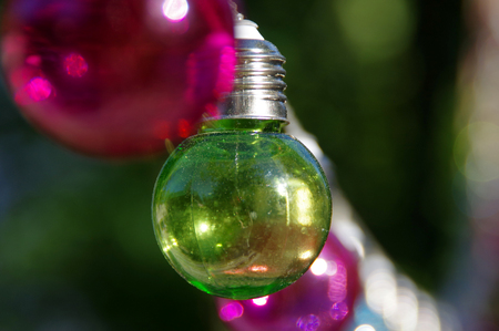 vitreous: Green vitreous bulb on dark background Stock Photo