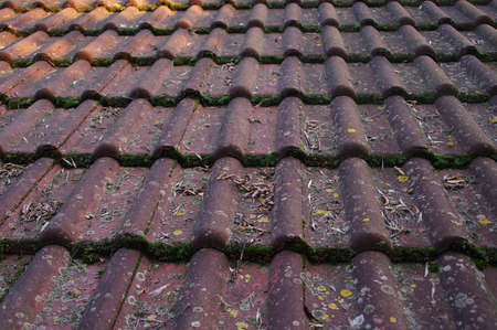 Dirty roof and gutter need cleaning. Autumns problem with leaves and moss.