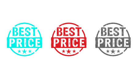 Best price stamp icons in few color versions. Promotion, sale, cyber monday, black friday, shop, business, discount and shopping concept.
