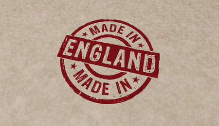 Made in England stamp icons in few color versions. Factory, manufacturing and production country concept 3D rendering illustration. 写真素材