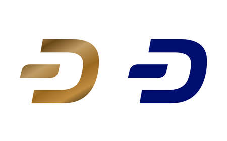 Dash DeFi cryptocurrency symbol on white background isolated . Abstract concept 3d illustration. Stok Fotoğraf