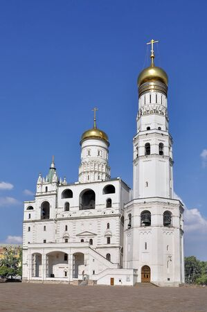 bell tower: Ivan Velikyi bell tower in Moscow Stock Photo