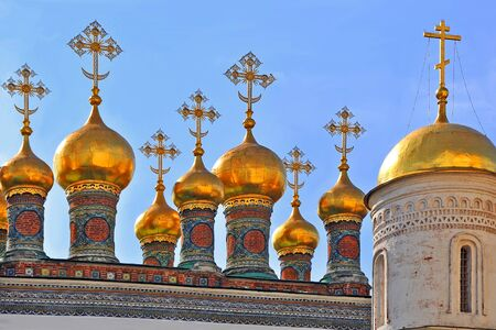 orthodoxy: Golden domes of Moscow churches