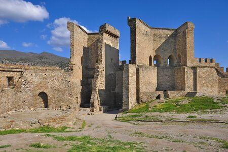sudak: Genoese fortress in Sudak on the Crimean Peninsula.