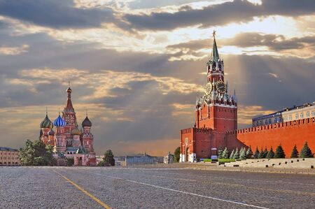 red square: Red square in Moscow Stock Photo