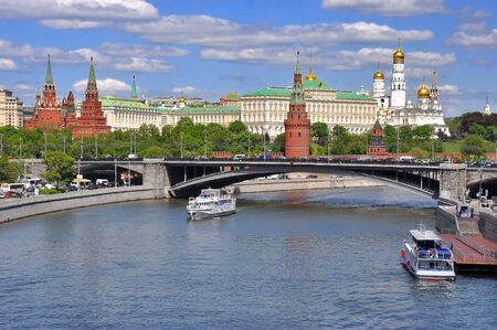 patriarchal: View of the Kremlin from the Patriarchal bridge Stock Photo