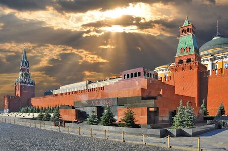 Red square and the Kremlin in Moscow Stock Photo