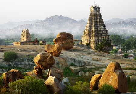 monument in india: Temple in Hampi