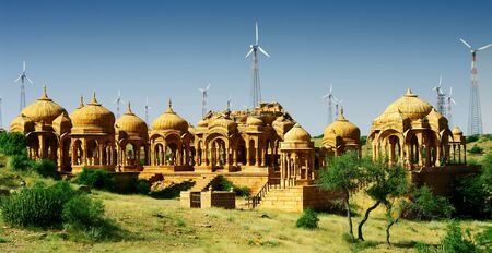 thar: necropolis in the Thar desert Stock Photo