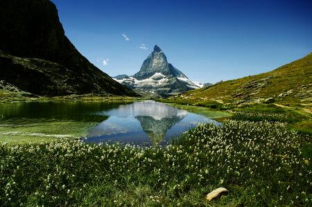 valais: Matterhorn and its lake