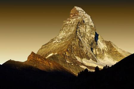 zermatt: Matterhorn at sunset