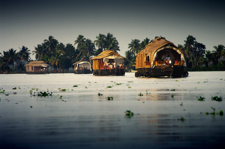 allepey: houseboats on the backwaters of Kerala