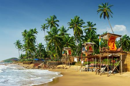idyllic beach in Goa, India