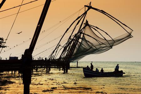 india fisherman: chinese nets