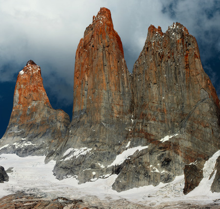 puerto natales: Torres del Paine Stock Photo